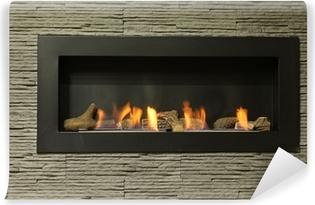 Mural de Parede em Vinil interior fireplace