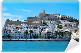 Mural de Parede Lavável Dalt Vila, the old town of Ibiza Town, in Ibiza, Balearic Island