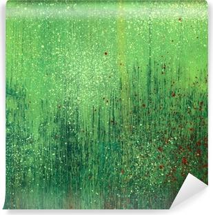 Mural de Parede Lavável Green acrylic paint background texture paper