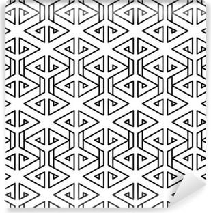 Mural de Parede Lavável Teste padrão geométrico abstrato travesseiro de moda moderno preto e branco
