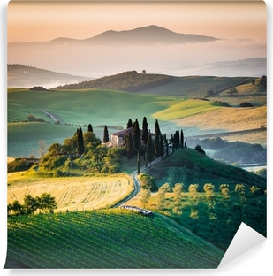 Mural de Parede em Vinil Mattino in Toscana, paesaggio e colline