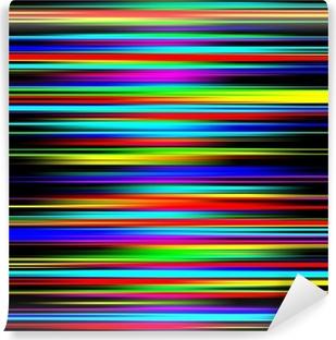 Mural de Parede em Vinil Multicolored vibrant abstract graduated stripes pattern.