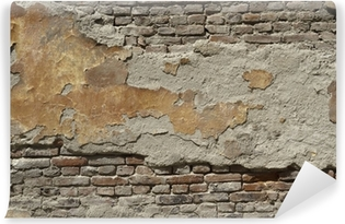 Mural de Parede em Vinil Painted old brick wall