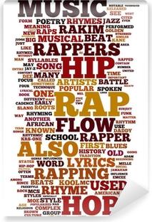 Mural de Parede em Vinil Rap and Hip Hop Music