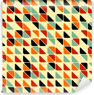 Mural de Parede em Vinil Retro abstract seamless pattern with triangles