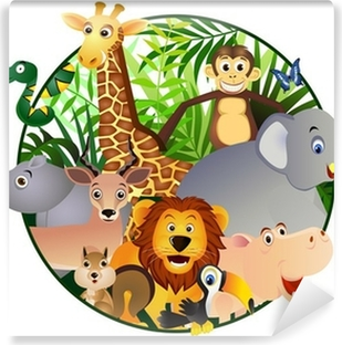 Autocolante Pixerstick Safari Cartoon Pixers Vivemos Para Mudar