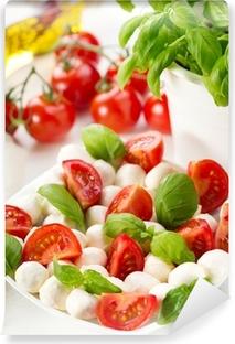 Mural de Parede em Vinil salad with mozzarella and tomatoes