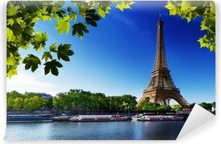 Mural de Parede em Vinil Seine in Paris with Eiffel tower