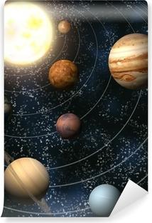 Mural de Parede em Vinil Solar System
