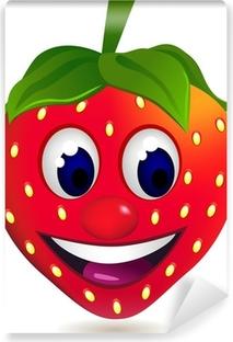 Mural de Parede em Vinil strawberry cartoon character