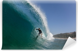 Mural de Parede em Vinil Surfing Tube Ride Large Wave