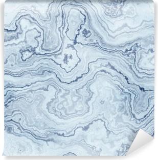 Mural de Parede em Vinil Textura sem emenda do teste padrão de mármore azul para o fundo / ilustração