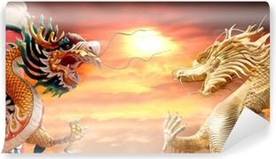 Mural de Parede em Vinil Two dragon