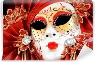Mural de Parede em Vinil Venetian Carnival Mask