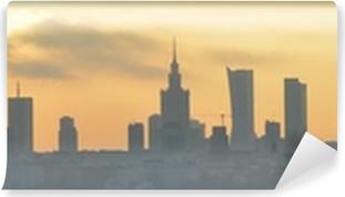 Mural de Parede em Vinil Warsaw sunset panorama