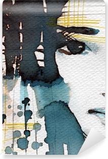 Mural de Parede em Vinil watercolor illustration