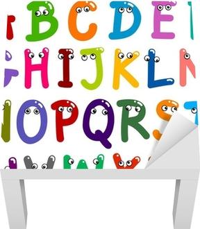 Naklejka na stolik Lack Alfabet litery śmieszne
