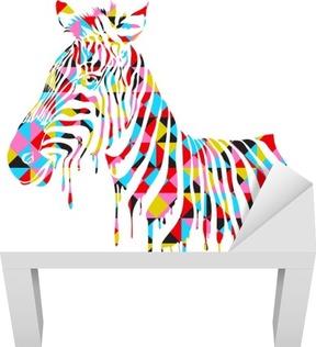 Naklejka na stolik Lack Streszczenie zebra - ilustracji wektorowych