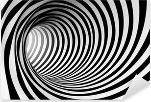 Naklejka Pixerstick 3d streszczenie spirali tle w czerni i bieli
