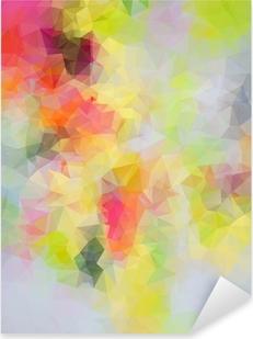 Naklejka Pixerstick Abstrakcyjne tło trójkąt