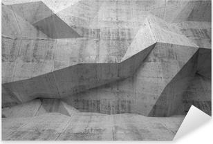 Naklejka Pixerstick Abstrakcyjne wnętrze 3d z ciemnego betonu
