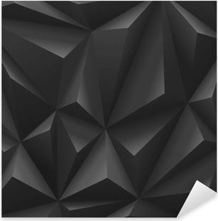 Naklejka Pixerstick Abstrakcyjny wielokąt o barwie czarnego węgla