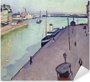 Naklejka Pixerstick Albert Marquet - Widok na port w Hawrze (nabrzeże Notre Dame)