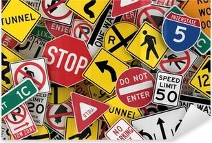 Naklejka Pixerstick Amerykańskie znaki drogowe