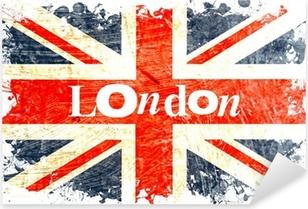 Naklejka Pixerstick Angielski Flaga DECOUPE london