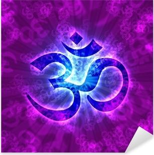 Naklejka Pixerstick Aum Om znakiem oświecenia - Violet Blue