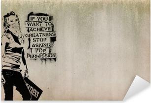 Plakat Banksy Pixers Zyjemy By Zmieniac