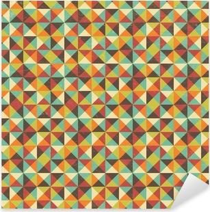 Naklejka Pixerstick Bez szwu tła kwadratowy trójkąt geometryczny