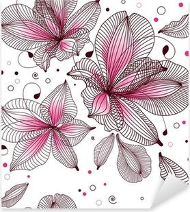 Naklejka Pixerstick Bez szwu tła kwiatu. Ilustracji wektorowych.