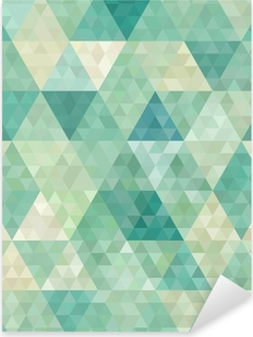 Naklejka Pixerstick Bezszwowe tło z abstrakcyjnym ornamentem geometrycznym