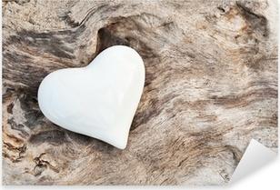 Naklejka Pixerstick Biały Heart
