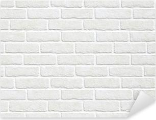 Naklejka Pixerstick Białym tle ceglanego muru