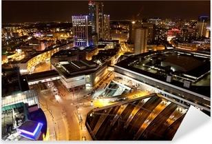 Naklejka Pixerstick Birmingham City Centre w nocy