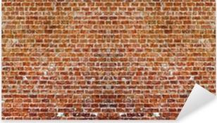 Naklejka Pixerstick Brick wall panaroma