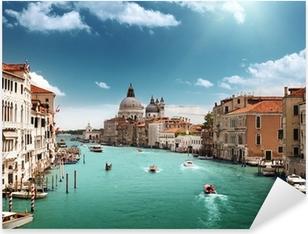 Naklejka Pixerstick Canal Grande i Bazylika Santa Maria zdrowia, Wenecja, Włochy