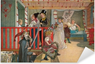 Naklejka Pixerstick Carl Larsson - Imieniny w szopie