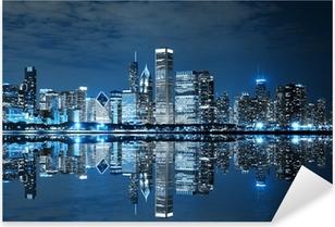 Naklejka Pixerstick Chicago w nocy
