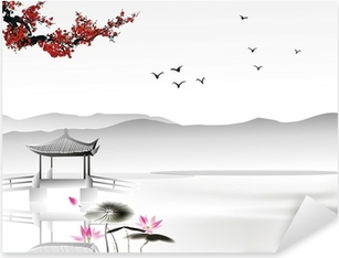 Naklejka Pixerstick Chińskich malowanie