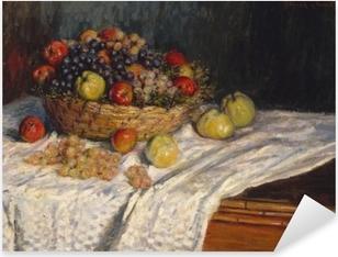 Naklejka Pixerstick Claude Monet - Jabłka i winogrona