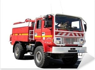 """Naklejka Pixerstick """"""""""""Cysterna pożarów strażacy"""""""
