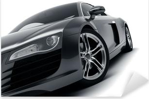 Naklejka Pixerstick Czarny samochód sportowy