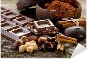Naklejka Pixerstick Czekolada z składniki-czekolady i składników