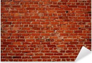 Naklejka Pixerstick Czerwony mur z cegły