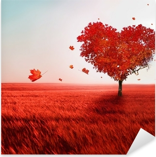 Naklejka Pixerstick Drzewa miłości