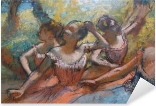 Naklejka Pixerstick Edgar Degas - Cztery tancerki na scenie