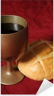916ed0afdf ... kielich i hosta z kłosy pszenicy i winogron winorośli. Pierwsza Komunia  chrześcijańska kolor ilustracji wektorowych. • Pixers® - Żyjemy by zmieniać